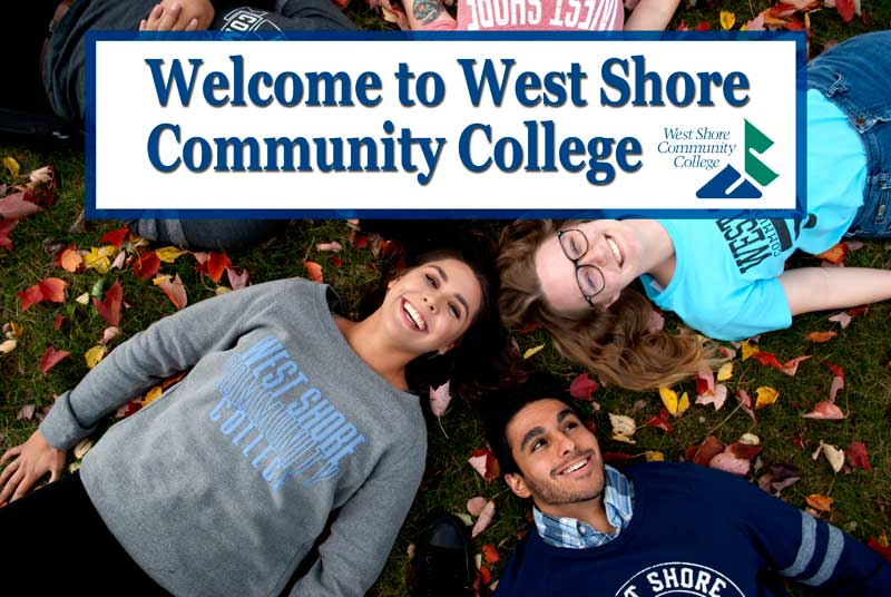 Welcome to West Shore Community College! Please use the tabs to the left to  navigate your way through the application for admissions.